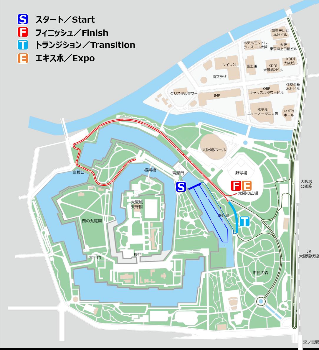Osaka Castle Triathlon 2019 Age Group Course